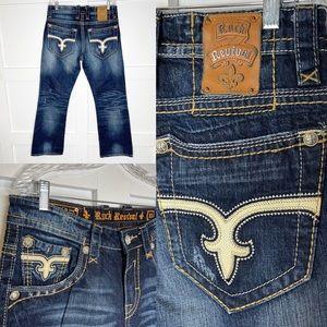 Rock Revival Jayden Boot Jeans Buckle Distressed